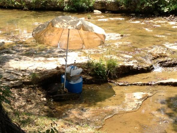 Keg in the creek!