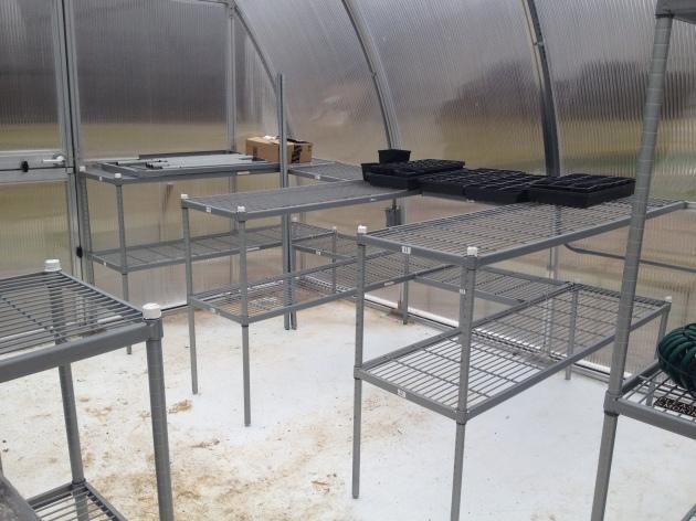 greenhouse bench diy