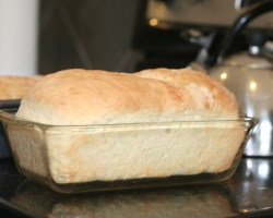 Making homemade sandwich bread at home