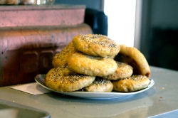 how to make homemade asiago and everything bagels