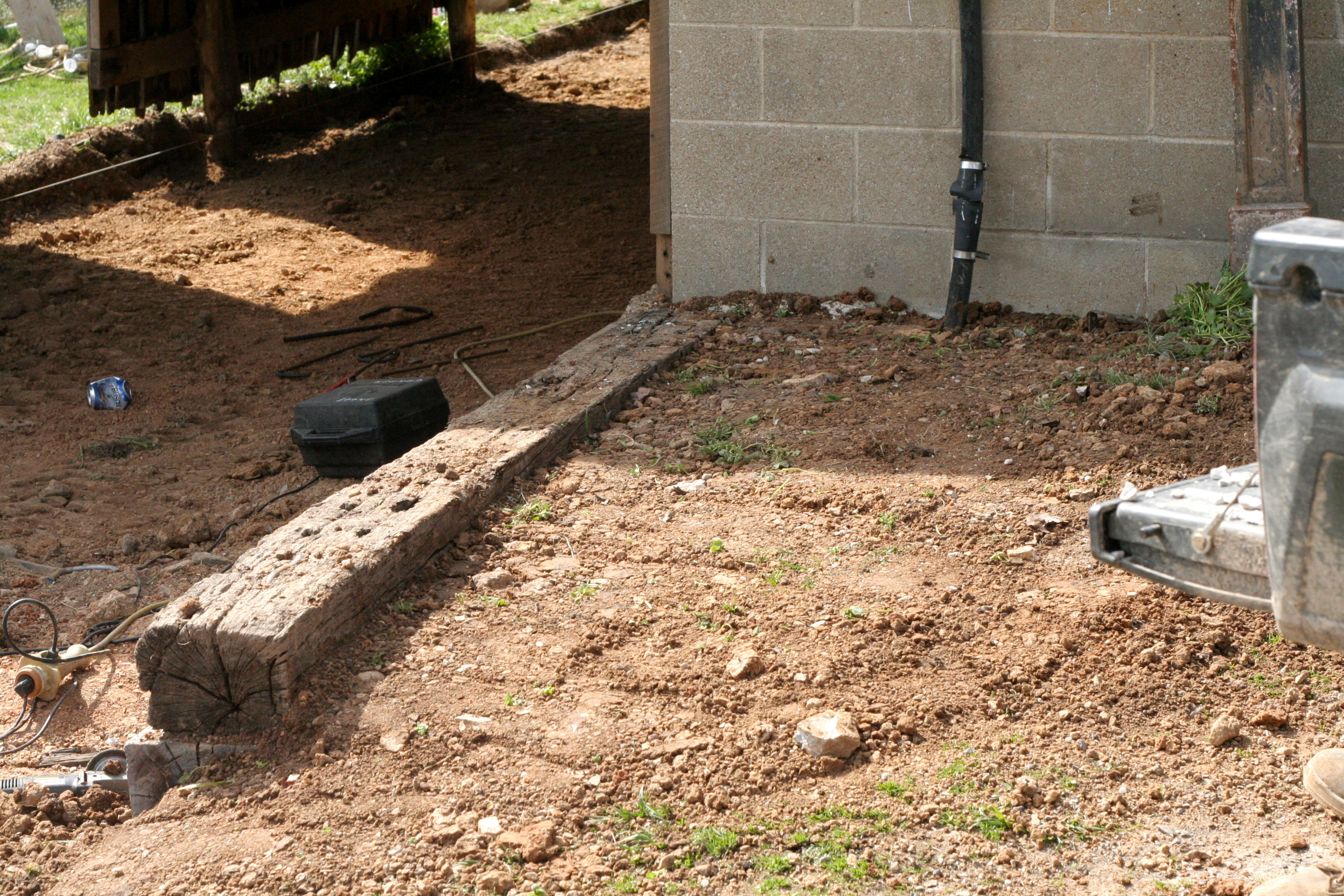 How to build a railroad tie retaining wall | Such and Such Farm
