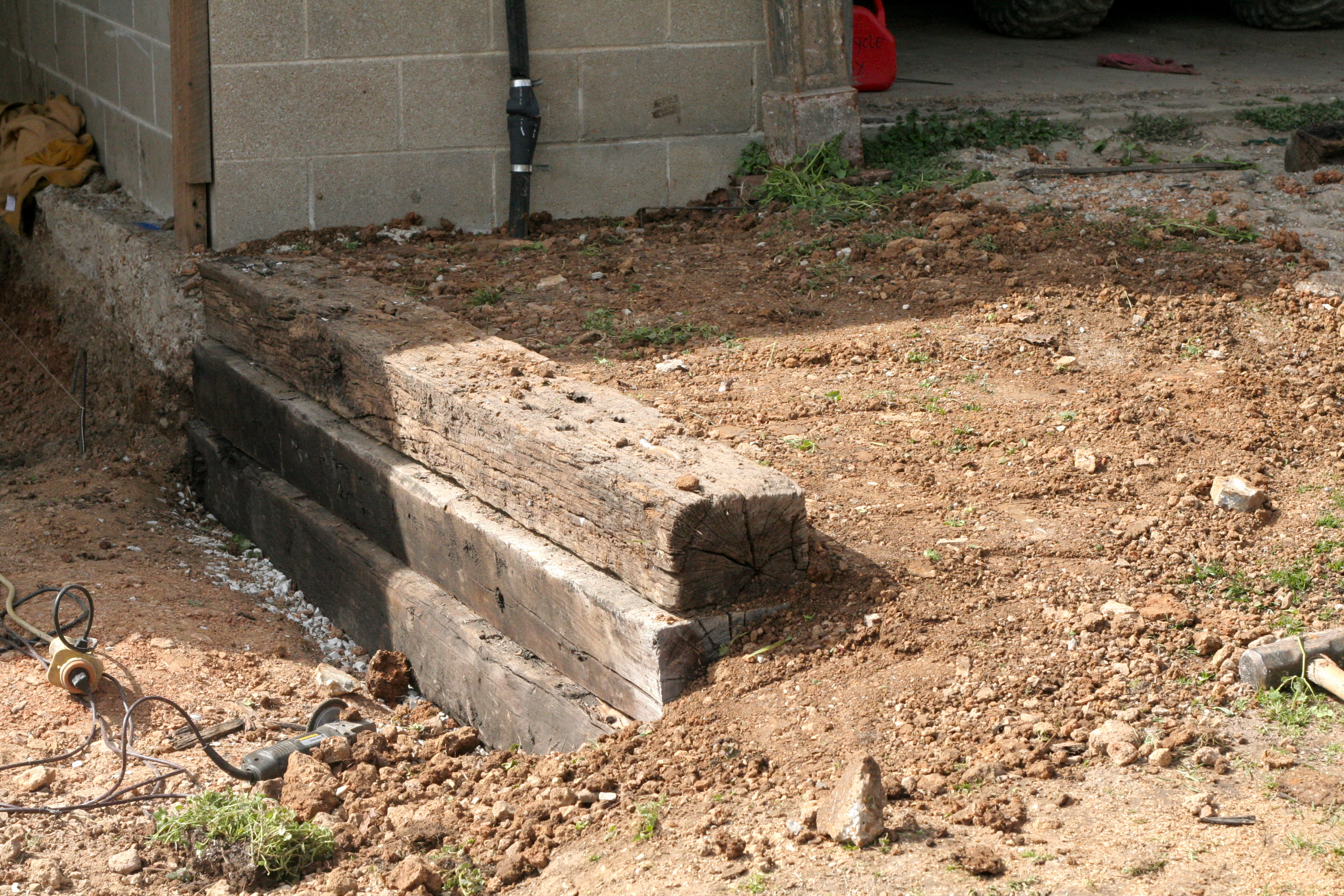 Diy How To Build A 2 Foot Wood Retaining Wall Download